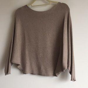 Taupe Zara bat sleeved sweater size M